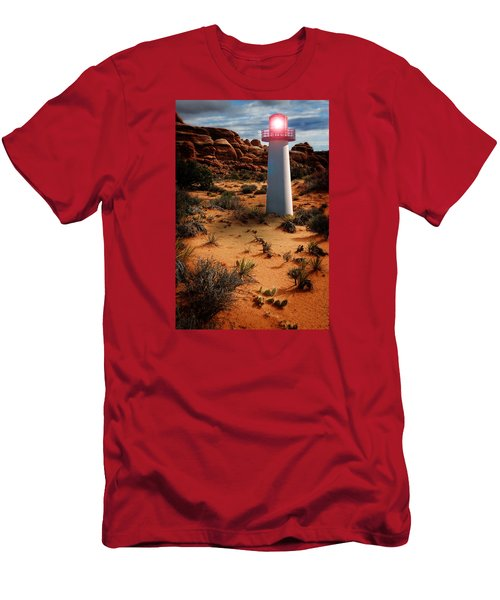Desert Lighthouse Men's T-Shirt (Athletic Fit)