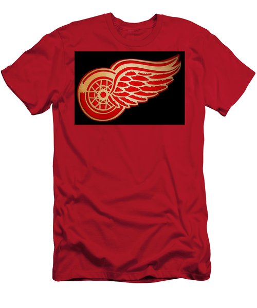 Detroit Red Wings - Scrolled Men's T-Shirt (Athletic Fit)