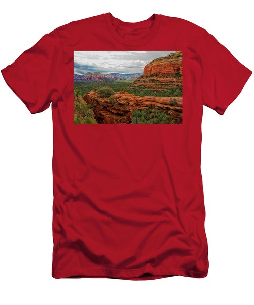 Men's T-Shirt (Slim Fit) featuring the photograph Devil's Bridge by Tom Kelly