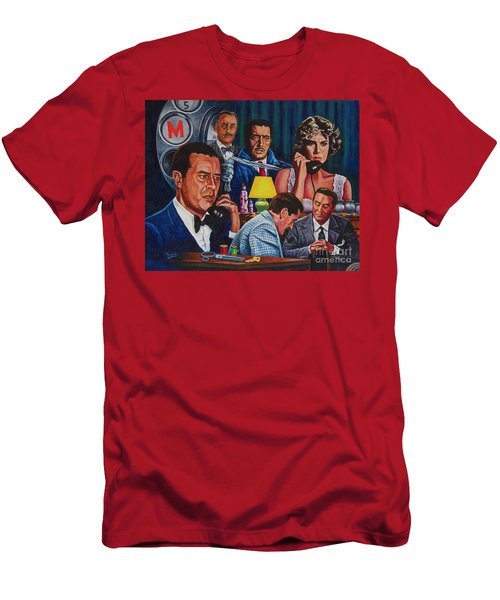 Men's T-Shirt (Slim Fit) featuring the painting Dial M For Murder by Michael Frank