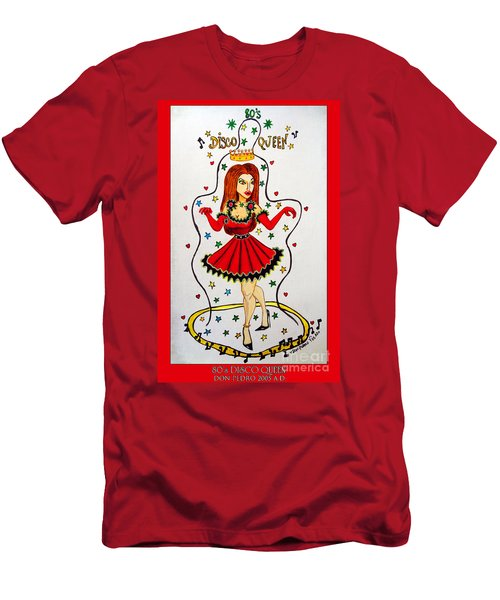 Men's T-Shirt (Slim Fit) featuring the painting Disco Queen 80's by Don Pedro De Gracia