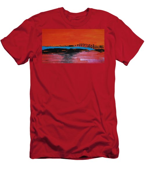 Distant City Men's T-Shirt (Slim Fit) by Haleh Mahbod