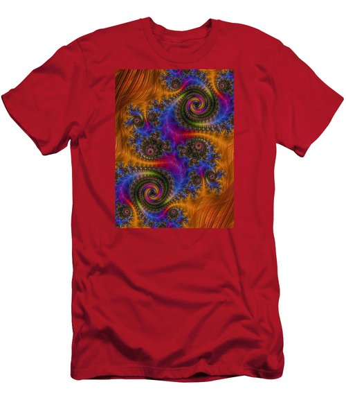 Men's T-Shirt (Slim Fit) featuring the photograph Dizzy Spirals by Ronda Broatch