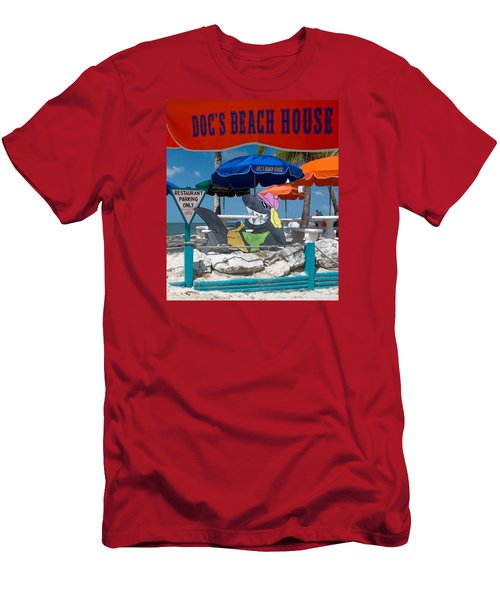 Doc's Beach House On Bonita Beach Men's T-Shirt (Athletic Fit)