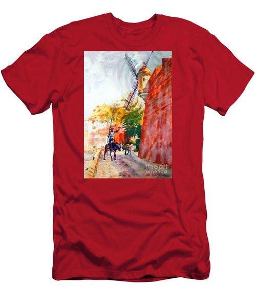 Don Quixote In San Juan Men's T-Shirt (Athletic Fit)