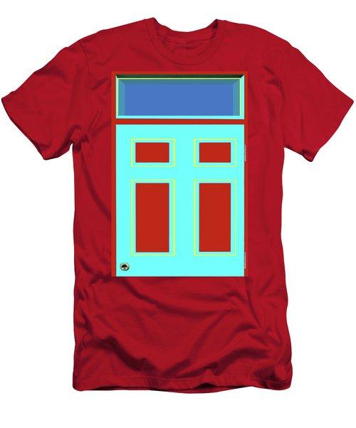 Door - Bold Colors Men's T-Shirt (Athletic Fit)