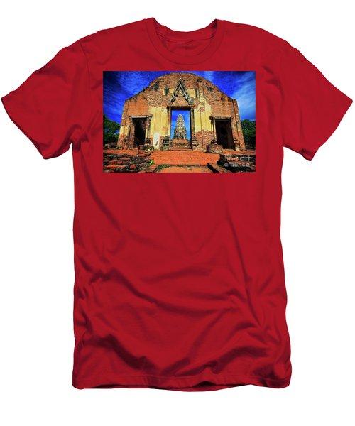 Doorway To Wat Ratburana In Ayutthaya, Thailand Men's T-Shirt (Slim Fit) by Sam Antonio Photography
