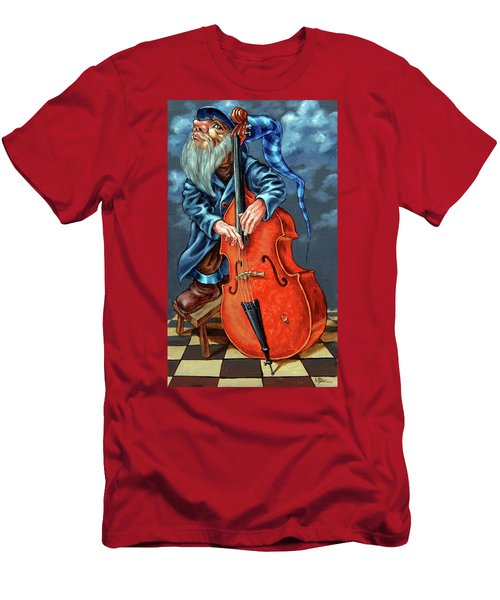 Double Bass And Bench Men's T-Shirt (Athletic Fit)