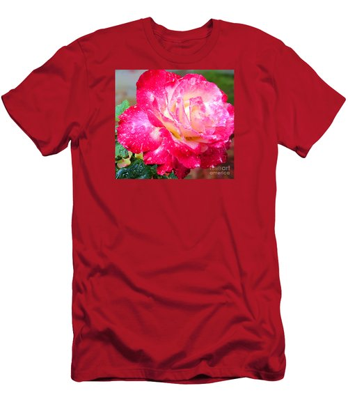 Men's T-Shirt (Slim Fit) featuring the photograph Double Delight by Patricia Griffin Brett