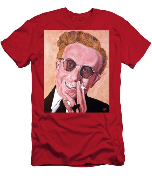 Men's T-Shirt (Slim Fit) featuring the painting Dr Strangelove  by Tom Roderick