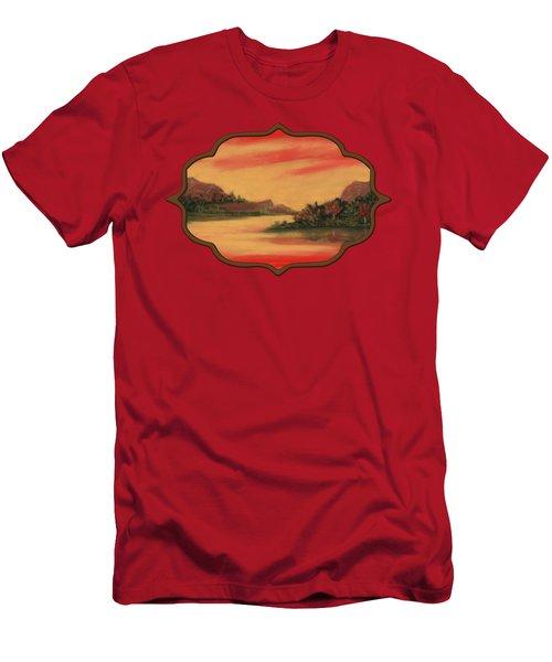 Dragon Sunset Men's T-Shirt (Athletic Fit)