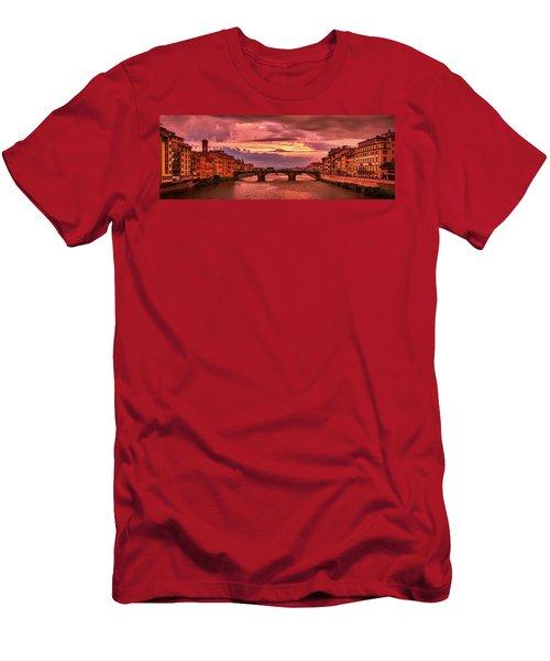 Dreamlike Sunset From Ponte Vecchio Men's T-Shirt (Athletic Fit)