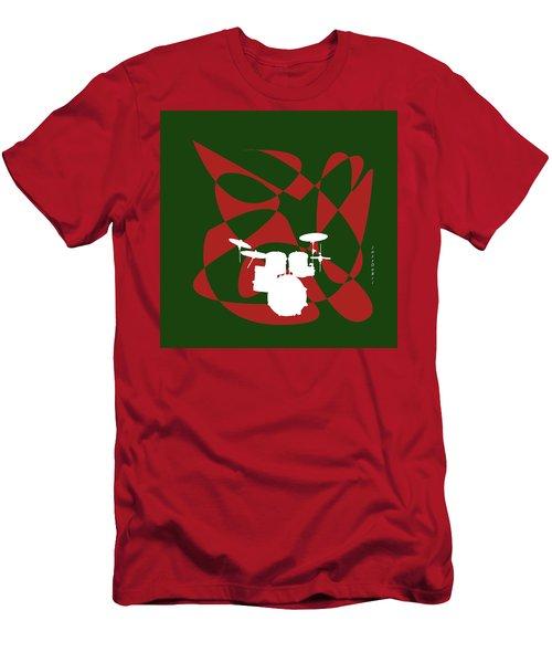 Drums In Green Strife Men's T-Shirt (Slim Fit) by David Bridburg
