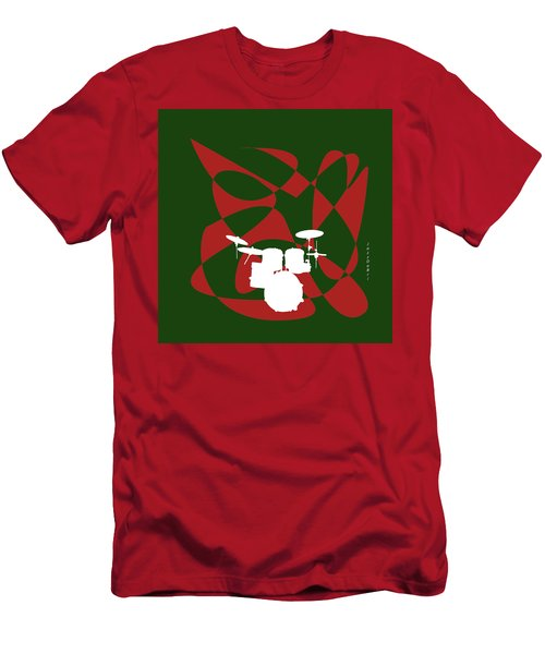Drums In Green Strife Men's T-Shirt (Athletic Fit)