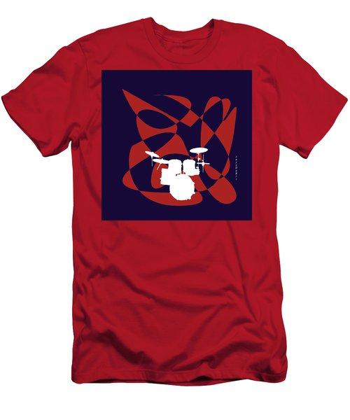 Drums In Purple Strife Men's T-Shirt (Slim Fit) by David Bridburg