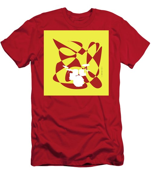 Drums In Yellow Strife Men's T-Shirt (Athletic Fit)