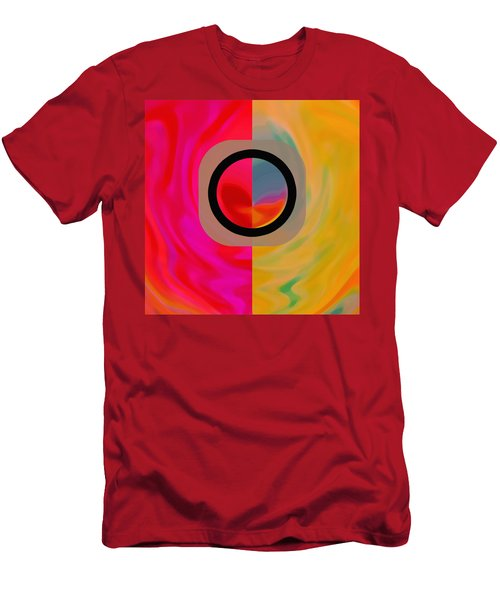 Men's T-Shirt (Athletic Fit) featuring the digital art Dualism by Mihaela Stancu