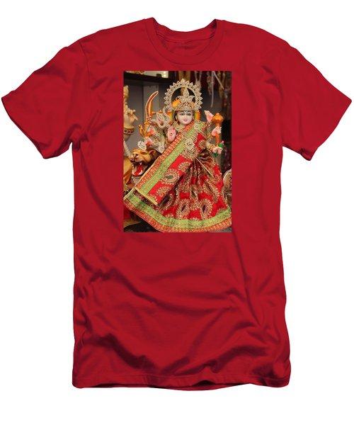 Durga In Madho Bhag, Mumbai Men's T-Shirt (Slim Fit) by Jennifer Mazzucco