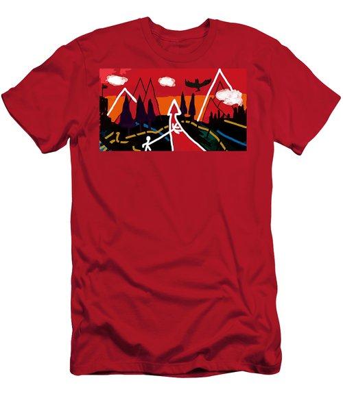 Dystopian Nite  Men's T-Shirt (Athletic Fit)