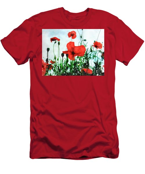 Early Morning Poppy Moment Men's T-Shirt (Athletic Fit)