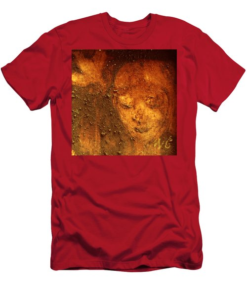 Men's T-Shirt (Athletic Fit) featuring the painting Earth Face by Winsome Gunning
