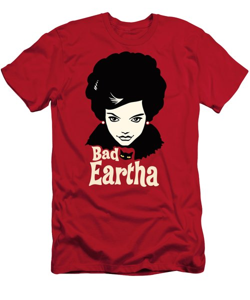 Eartha Kitt - That Bad Eartha Retro Poster Men's T-Shirt (Athletic Fit)