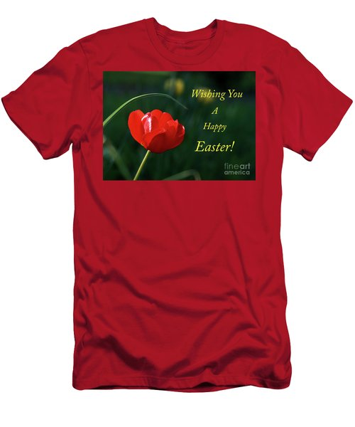 Men's T-Shirt (Slim Fit) featuring the photograph Easter Tulip by Douglas Stucky