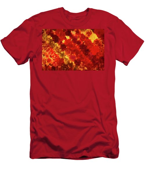 Edgy Flowers Through Glass Men's T-Shirt (Athletic Fit)