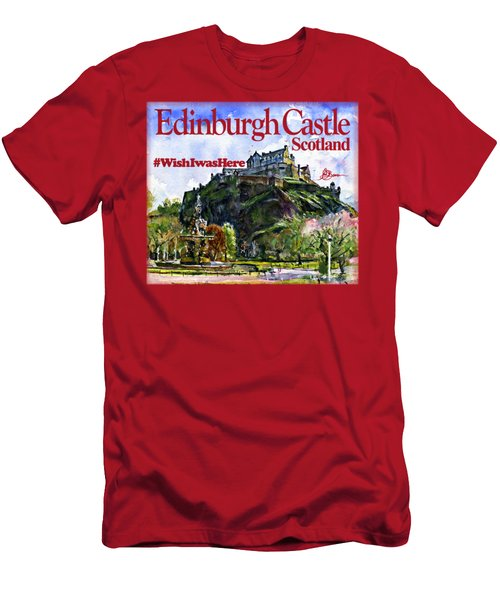Edinburgh Castle Men's T-Shirt (Athletic Fit)