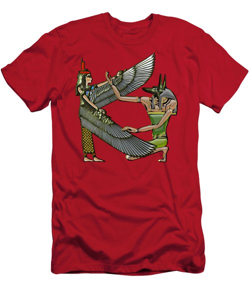 Egyptian Gods Anubis And Nut Men's T-Shirt (Athletic Fit)