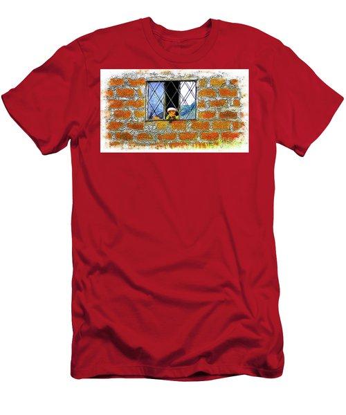 El Altar Kid 872 Men's T-Shirt (Athletic Fit)