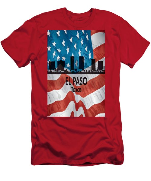 El Paso Tx American Flag Vertical Men's T-Shirt (Athletic Fit)