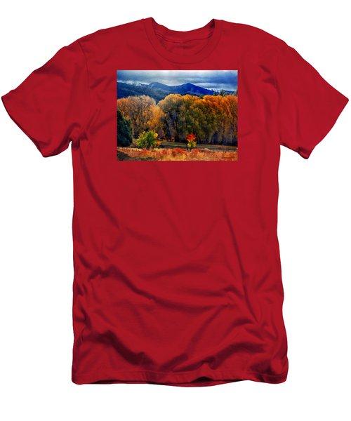 El Valle November Pastures Men's T-Shirt (Slim Fit) by Anastasia Savage Ealy