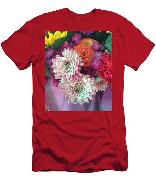 Elegant And Romantic Men's T-Shirt (Slim Fit) by Peggy Stokes