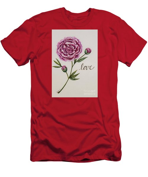 Elegant Love Men's T-Shirt (Slim Fit) by Elizabeth Robinette Tyndall