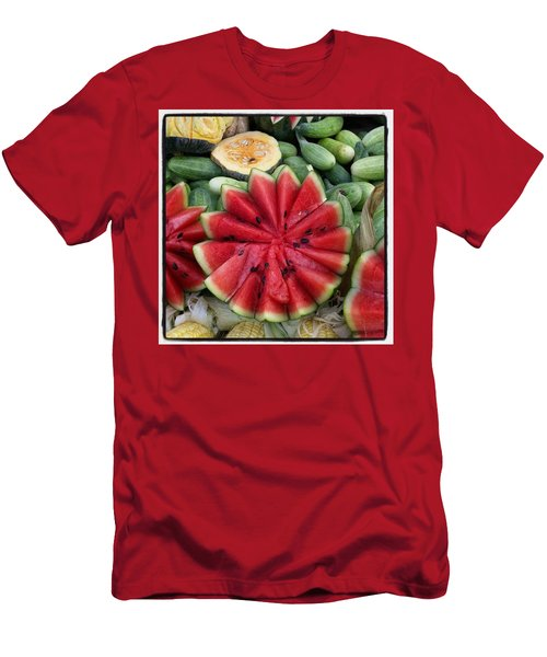 Men's T-Shirt (Athletic Fit) featuring the photograph Elephant Buffet #whatiloveaboutthailand by Mr Photojimsf