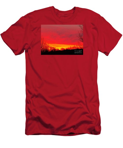 Men's T-Shirt (Slim Fit) featuring the photograph Elijahs Host by Christian Mattison