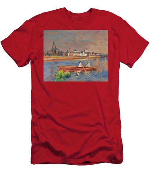 En Bateau De Renoir Sur La Meuse A Maestricht Men's T-Shirt (Slim Fit) by Nop Briex