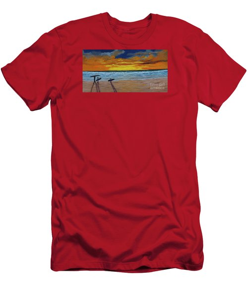 End Of Day Men's T-Shirt (Slim Fit) by Myrna Walsh