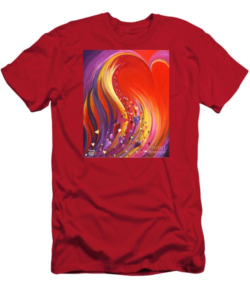 Men's T-Shirt (Athletic Fit) featuring the painting Arise My Love by Nancy Cupp