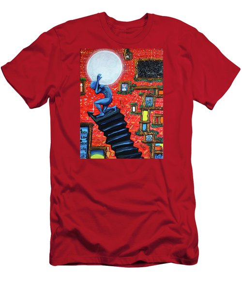 Energy Flow, The Active Space And The Effects Of The Rising Moon Men's T-Shirt (Athletic Fit)