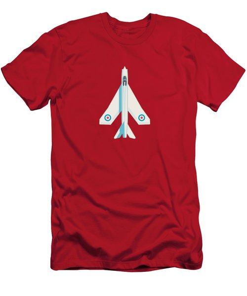 English Electric Lightning Fighter Jet Aircraft - Crimson Men's T-Shirt (Slim Fit)