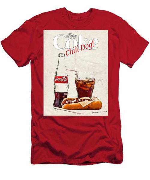 Enjoy Coca-cola With Chili Dog Men's T-Shirt (Athletic Fit)