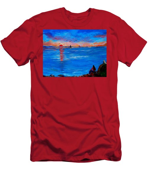Enjoying The Sunset Differently Men's T-Shirt (Athletic Fit)