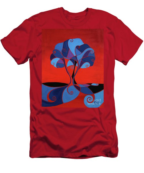 Enveloped In Red Men's T-Shirt (Athletic Fit)