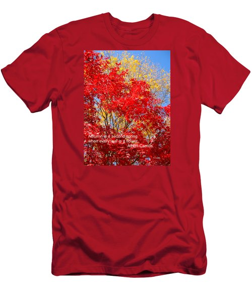 Every Leaf Is A Flower Men's T-Shirt (Slim Fit) by Deborah Dendler