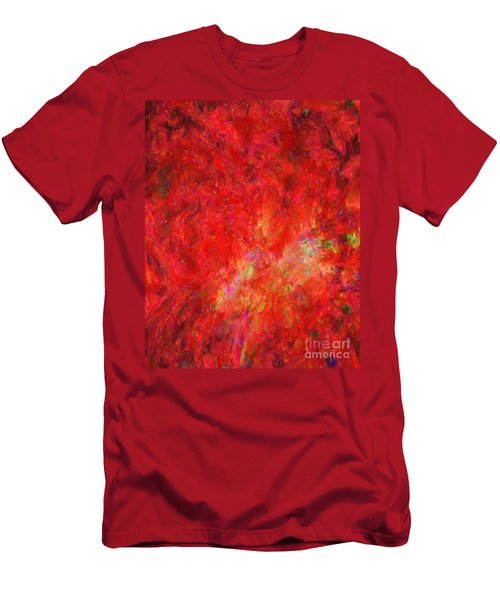 Explosion In Watercolor Men's T-Shirt (Athletic Fit)