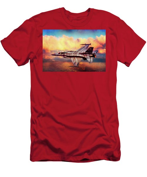 Men's T-Shirt (Slim Fit) featuring the photograph F16c Fighting Falcon by Chris Lord
