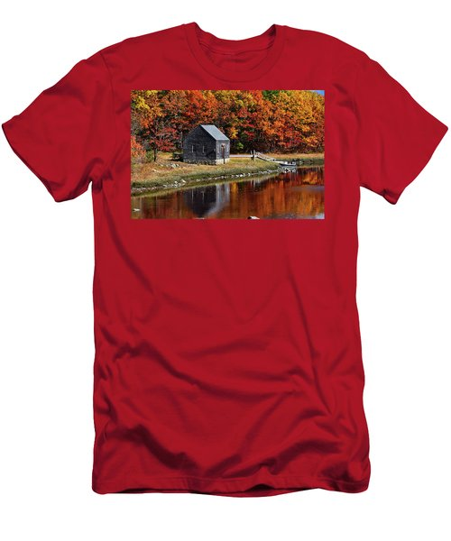 Fall At Rye Men's T-Shirt (Slim Fit) by Tricia Marchlik