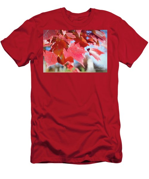 Fall Colors Oil Men's T-Shirt (Athletic Fit)